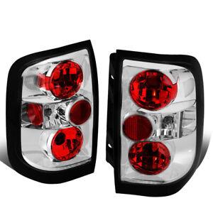 Fit 96-04 Nissan Pathfinder/Infiniti Qx4 Chrome Housing Tail Brake Light Lamp