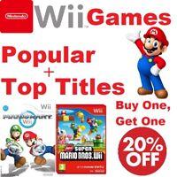 Nintendo Wii Games =Popular/Top Titles/Family =Case+Disc vgc =Create your bundle
