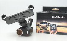 (PRL) CAR HOLDER CIGAR SOCKET USB KIT 3 IN 1 MOBILE PHONE GPS MP3 MP4 PDA AUTO