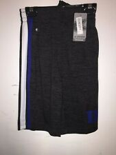 "Youth Boy's Colosseum ""Mendoza"" Duke Blue Devils Grey/Black Basketball Shorts"