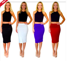 Pencil Skirt , midi - Black, Cream, Wine, Royal Blue - 8, 10, 12, 14, 16, 18, 20