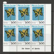 Sierra Leone 1991 Sierra Leone in blue, 300Le UM imprint block 6,see notes