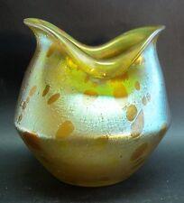 Superb LOETZ ASTRAEA Iridized Art Nouveau Glass Vase  c. 1900  Documented Piece
