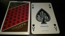 Martell Cognac Playing Cards By Grimaud