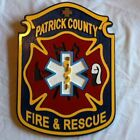 Fire Department Patrick County 3D routed wood carved patch plaque sign Custom