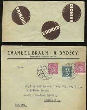 ADVERTISING 1937 PLASTIC IVORY CZECHOSLOVAKIA EMANUEL BRAUN...ERINOID COLOURS
