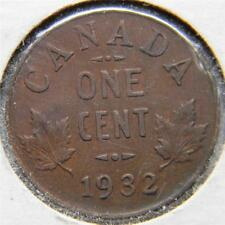 CANADA, George V: 1932 bronze Cent; brown XF+