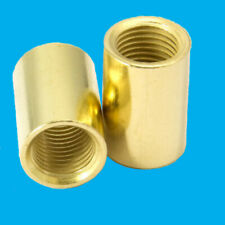 More details for 100x brass allthread coupler m10 thread 20mm x 13mm joining connector round nut