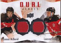 15-16 Team Canada Juniors Connor McDavid Lawson Crouse Dual Jersey 2015