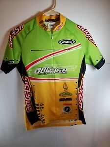 RACING VERGE SPORT Small 2 CYCLING JERSEY ZIP bright color BIKE SHIRT Yellow/Grn