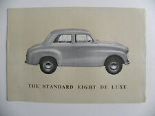 Brochure anglaise 1 feuille the STANDARD Eight de luxe
