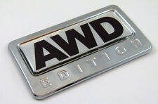 AWD All wheel drive Edition Chrome Emblem with domed decal Car Auto Bike Badge