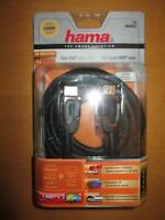 HAMA 83057 1.4 HDMI High Speed Kabel Ethernet 3m  vergoldet, Ferrit Filter,