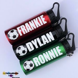 Personalised Cold Drinks Bottle/ Straw- 800ml Metal.with Football, Euro, World