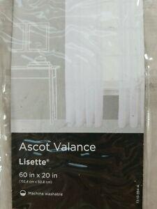 3 JCPenney Home Sheer Lisette Ascot Valance 60 x 20 Window Soft Linen Tan NEW