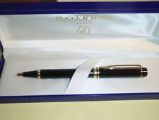 WATERMAN LE MAN 100  BLACK BALLPOINT PEN IN BOX   **
