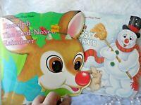 Christmas Children's Books - 2 GOLDEN SUPER SHAPE BOOKS - RUDOLPH & FROSTY