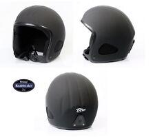 Titan Helm schwarz-matt Jethelm Chopperhelm in Größen XS - XXXL