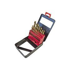 Am-Tech 19 TITANIUM Coated Drill Bit Set metallo titolare casella Dimensioni HSS 1-10mm f1140