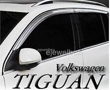 Chrome Side Window Vent Visors Rain Guards for Volkswagen Tiguan 09-13 +Tracking