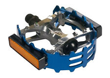 Bear Trap xlc CAGED OLD SCHOOL BMX Racing Platform Pedals, beartrap  BLUE 9/16""