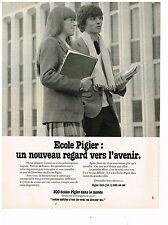 PUBLICITE ADVERTISING  054  1979  PIGIER   école  regard vers l'avenir