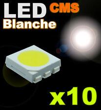 166/10# LED 5050 CMS Blanche  super lumineuse 10pcs