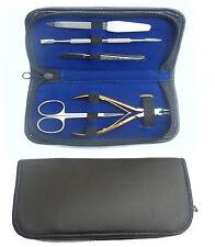 Cuidado de las uñas 5 piezas de Cortador Cutícula Clipper Manicura Pedicura Kit Funda Conjunto de Regalo