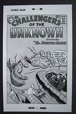 Large Production Art CHALLENGERS OF THE UNKNOWN #2 cover, JACK KIRBY art, 11x17