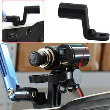 Motorcycle ATV Rearview Mirror Mount Extender Bracket Holder Clamp Phone Levers