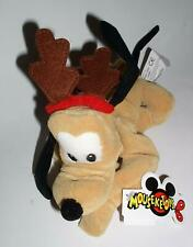 """Retired Disney Mickey Mouse Clubhouse Christmas Holiday Reindeer Pluto 8"""" Bean B"""
