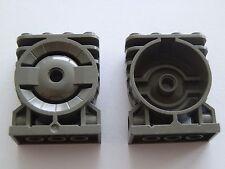 Lego 30535# 2x Motor Block 2x4x4  grau alt dunkelgrau 7315 7313