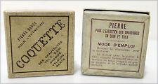 """COQUETTE, 2 anciennes boîtes """"Pierre douce..."""""""