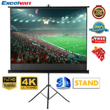 "100"" Inch 4 3 HD 3d Manual Pull up Projector Projection Screen With Stand Tripod"