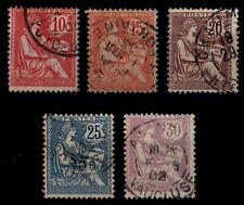 Déstockage : L'ANNÉE 1902 Complète, Oblitérés = Cote 43 € / Lot Timbres France