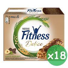 18x Barre Céréales Nestlè Nestlé Fitness Chocolat avec Lait et Noisette X6 C. U
