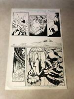 IRON FIST original art Marvel DEMONICUS STINGRAY BLACK WIDOW Signed BART SEARS
