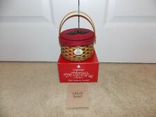 * Longaberger * 2003 Tree Trimming Melody Basket, Lid, Liner, Protector, Tie-On