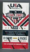 2020 PANINI STARS AND STRIPES BASEBALL SEALED HOBBY BOX | 1 hobby box