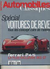 AUTOMOBILES CLASSIQUES n°158 NOVEMBRE 2006 FERRARI P4 P5 575 Z93 ZAGATO
