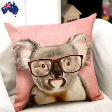 45x45cm Koala Bear Pink Linen Pillow Case Cushion Cover Decorative HPICA4576