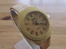 Reloj de pulsera Moda Reloj De Cuarzo De Cuero casua simular madera para mujeres