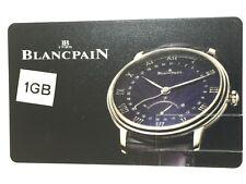 Raro Blancpain 1GB & 4GB Memory Stick USB, tarjeta. artículo de coleccionistas.