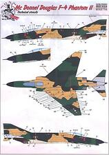 Print Scale Decals 1/72 MCDONNELL DOUGLAS F-4 PHANTOM II TECHNICAL STENCIL SET