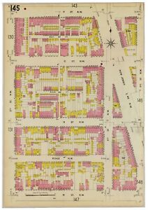 "Washington DC Mt. Vernon Square 1904 Reproduction Sanborn Fire Map 12""x18"""