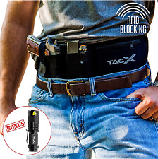 TacX Belly Band Holster | Waterproof RFID Blocking Zippered Pocket | Men, Women