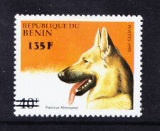 More details for benin 2000 michel 1234 1995 40fr dog surcharged 135fr unmounted mint cat euro200