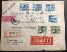 1943 Rijswijk Netherlands Express Airmail Cover To Steinwiesen Germany