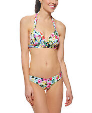 Seafolly Bikini AU 10 Summer Garden Mint Moulded Tri Halter & Sweetheart Hipster