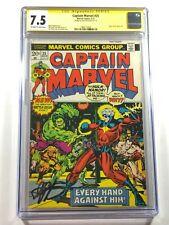 Captain Marvel #25 Signed by Jim Starin Thanos Saga Begins CGC 7.5